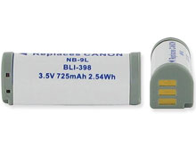 Empire BLI-398 725mAh 3.5V Replacement Lithium Ion (Li-Ion) Digital Camera Battery Pack for the Canon NB-9L
