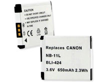 Empire BLI-424 650mAh 3.6V Replacement Lithium Ion (Li-Ion) Digital Camera Battery Pack for the Canon NB-11L
