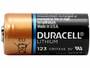 Side profile of Duracell Ultra CR123A