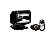 GoLight Radioray 12V Halogen Light Permanent Mount - Wireless Handheld and Wireless Dash Mount Remote
