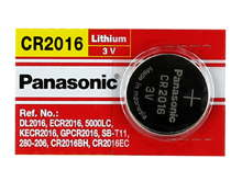 Panasonic CR2016 90mAh 3V Lithium (LiMnO2) Coin Cell Battery - 1 Piece Tear Strip, Sold Individually