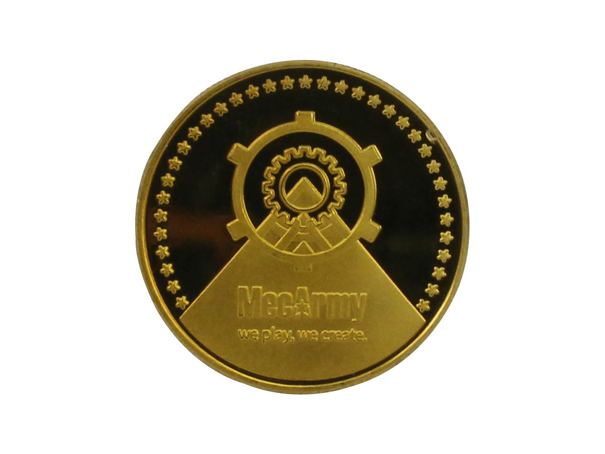 Front of MecArmy EDC Coin