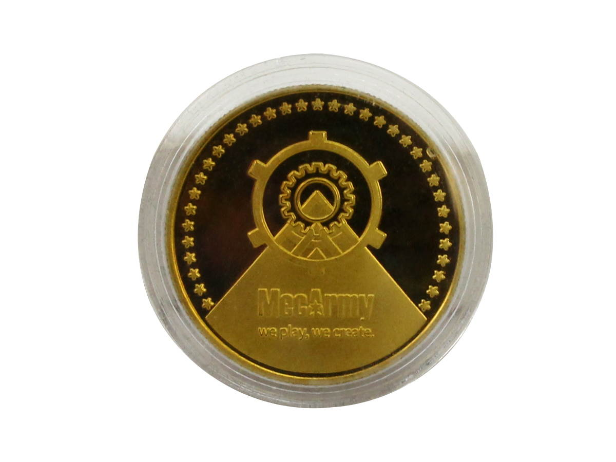 Front of MecArmy EDC Coin in Case