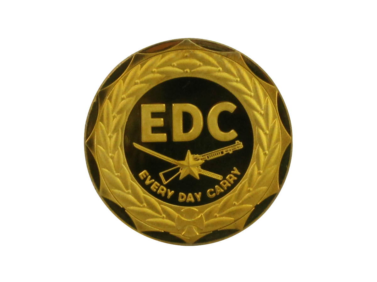 Back of MecArmy EDC Coin