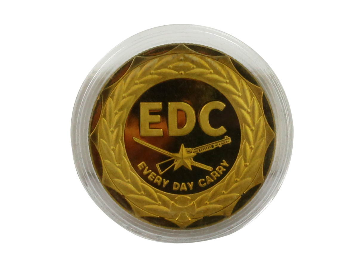 Back of MecArmy EDC Coin in Case