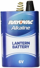 Rayovac 806 D Cell 6V Alkaline Lantern Battery with Spring Terminals - Shrink Pack
