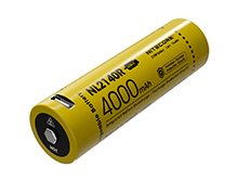 Nitecore NL2140R 21700 4000mAh 3.6V Protected Lithium Ion (Li-ion) Button Top Battery with Built-In USB-C Charging Port