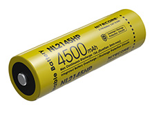 Nitecore NL2145HP High Performance 21700 4500mAh 3.6V 15A Protected Lithium Ion (Li-ion) Button Top Battery