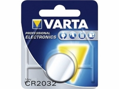 Varta Electronics 6032 CR2032 230mAh 3V Lithium (LiMnO2) Coin Cell Battery for Cameras/MP3 Players - 1 Piece Retail Card