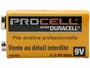 Duracell Procell 9V battery side profile