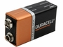 Duracell Coppertop 9V battery side angle