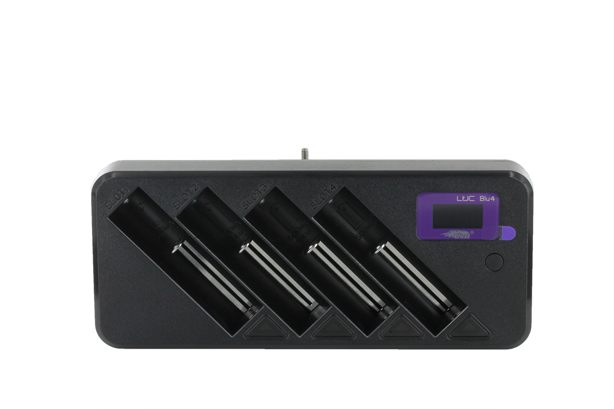 Efest LUC Blu4 battery charger upright
