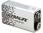 Angle Shot of the Ultralife 9-Volt Lithium Battery With No Cap