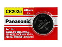 Panasonic CR2025 165mAh 3V Lithium (LiMnO2) Coin Cell Battery - 1 Piece Tear Strip, Sold Individually