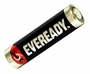 Energizer Eveready AA battery left side angle