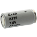 Exell A175 1501 7.5V Alkaline Industrial Battery for Pet Collars, Gun Scopes, Microphones - Replaces EN175A