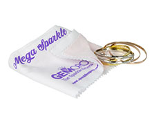 GemOro Mega Sparkle Jewelry Polishing and Anti-Tarnish Cloth