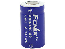 Fenix ARB-L10-80 10180 80mAh 3.6V Unprotected Lithium Ion (Li-ion) Button Top Battery