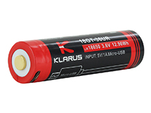 Klarus 36UR 18650 3600mAh 3.6V Protected Lithium Ion (Li-Ion) Button Top Battery with Micro USB Charging Port