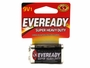 Energizer Eveready zinc carbon battery in retail card front view