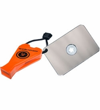 Ultimate Survival Technologies StarFlash Floating Signal Mirror / JetScream Whistle Combo - 2 x 3-inch Signal Device - Orange (20-611-300-08)