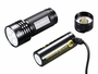 folomov 26650s flashlight with battery taken out and charging