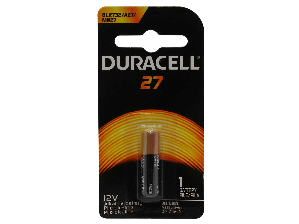 Duracell A27 battery in retail card
