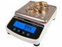 GemOro Platinum PRO1601 Digital Countertop Scale in use left angle
