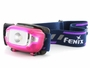 Fenix HL15 headlamp in pink left side angle