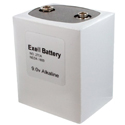 Exell 276 PP9 9V Alkaline Industrial Battery for Vintage Radios, Broadcast Receivers - Replaces Eveready 276