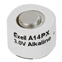 Exell A14PX 14APX 3V Alkaline Button Cell Battery for Cosina SSL 800 Macro Cameras - Replaces EPX14