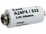 Exell A24PX 3V battery left side angle