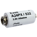 Exell A24PX EPX24 3V Alkaline Industrial Battery for Polaroid Cameras - Replaces Eveready 532