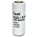 Exell A32PX E164 6V Alkaline Industrial Battery for Yashica Cameras - Replaces Eveready EN164A