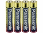 Panasonic Industrial AAA Batteries Shrink-Wrapped in Sets of 4