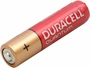 angled view of a Duracell Quantum AAA battery