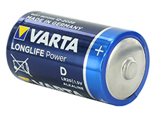 Varta Long Life Power D 1.5V Alkaline Button Top Batteries  - Retail Packaging, Sold Individually