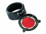 Red Flip lens for tactical flashlights