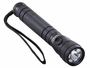 Black EDC Flashlight with a lanyard