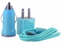 Blue Version of the I-Charge USB Charger Kit