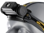 Close up of Fenix HL60R headlamp in black left side angle