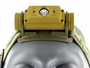 Close up front view of Fenix HL60R headlamp in yellow