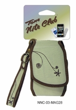Nite Ize Tone Nite Club Cell Phone Holster with Magnetic Closure - Embroidered Sage (NNC-03-MAG28)