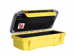 Underwater Kinetics Weatherproof 207 UltraBox - Yellow with Clear View Lid - Padded Liner and Lid Pouch