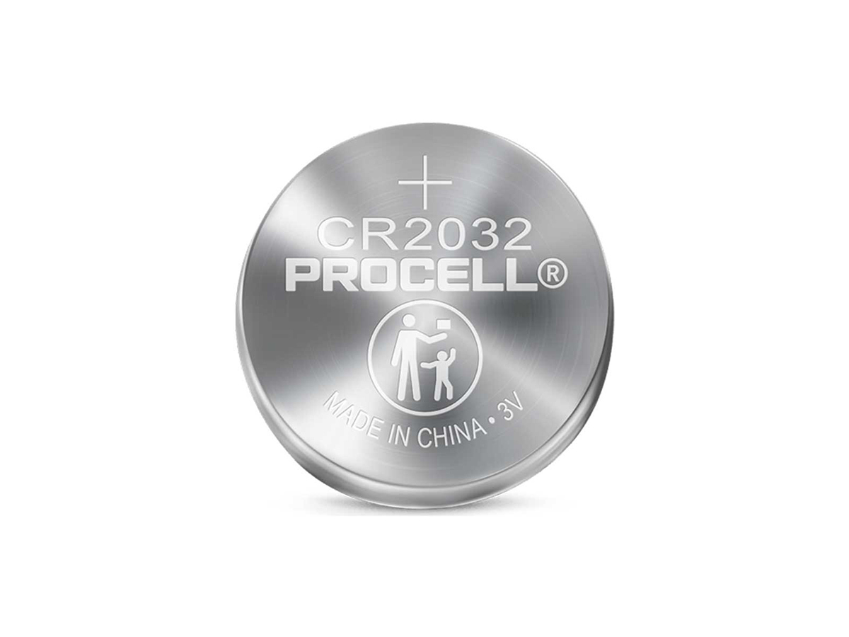 duracell procell cr2032 solo coin cell