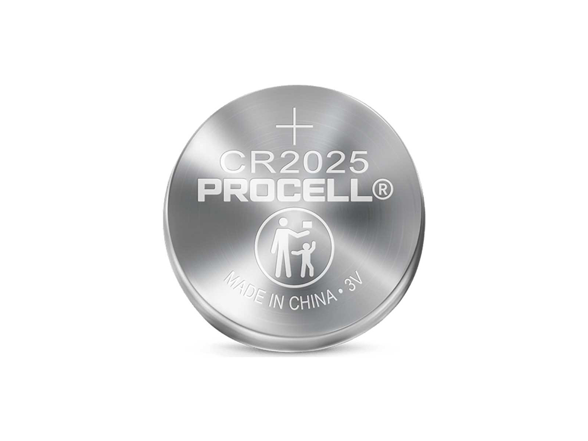 duracell procell cr2025 solo coin cell
