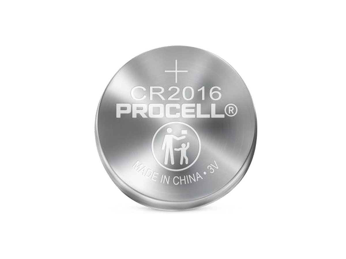duracell procell cr2016 solo coin cell