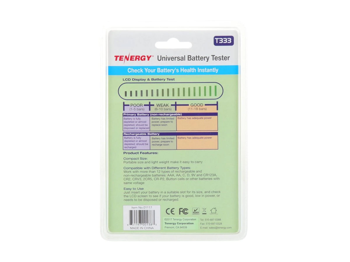 tenergy t-333 back of packaging