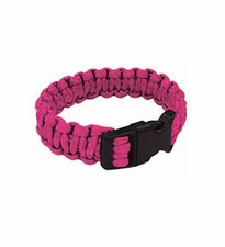 Ultimate Survival Technologies Survival Bracelet - 7-inch Wrist Band with Nylon Buckle - 8 Feet of Paracord - Fuchsia (20-295B7-37)