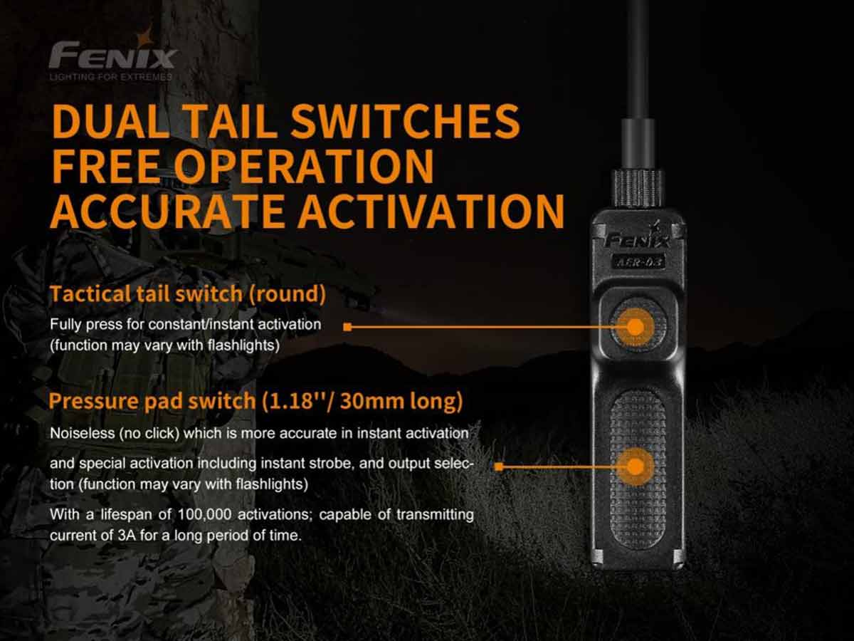 fenix aer-03-v2 pressure switch manufacturer slide about dual tail switch design and functions